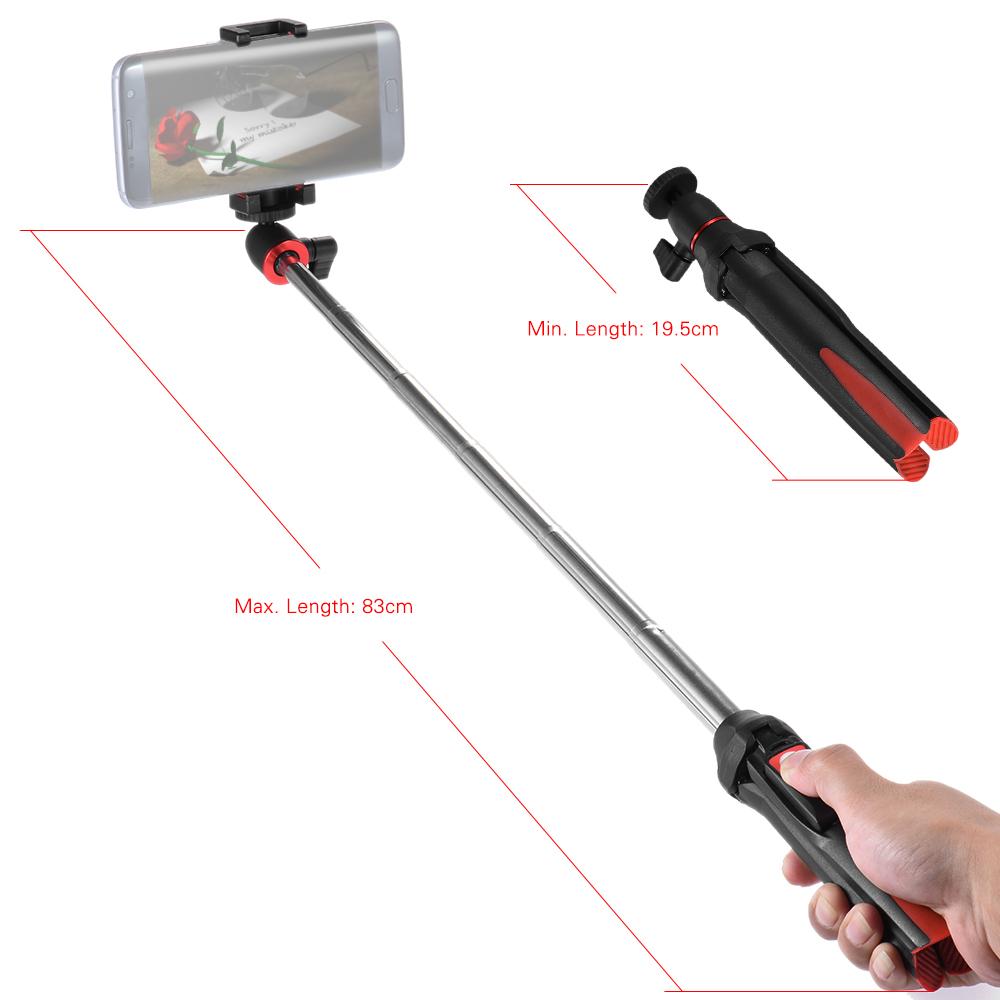 benro mk10 handheld extendable mini tripod selfie stick with bluetooth remote control shutter. Black Bedroom Furniture Sets. Home Design Ideas
