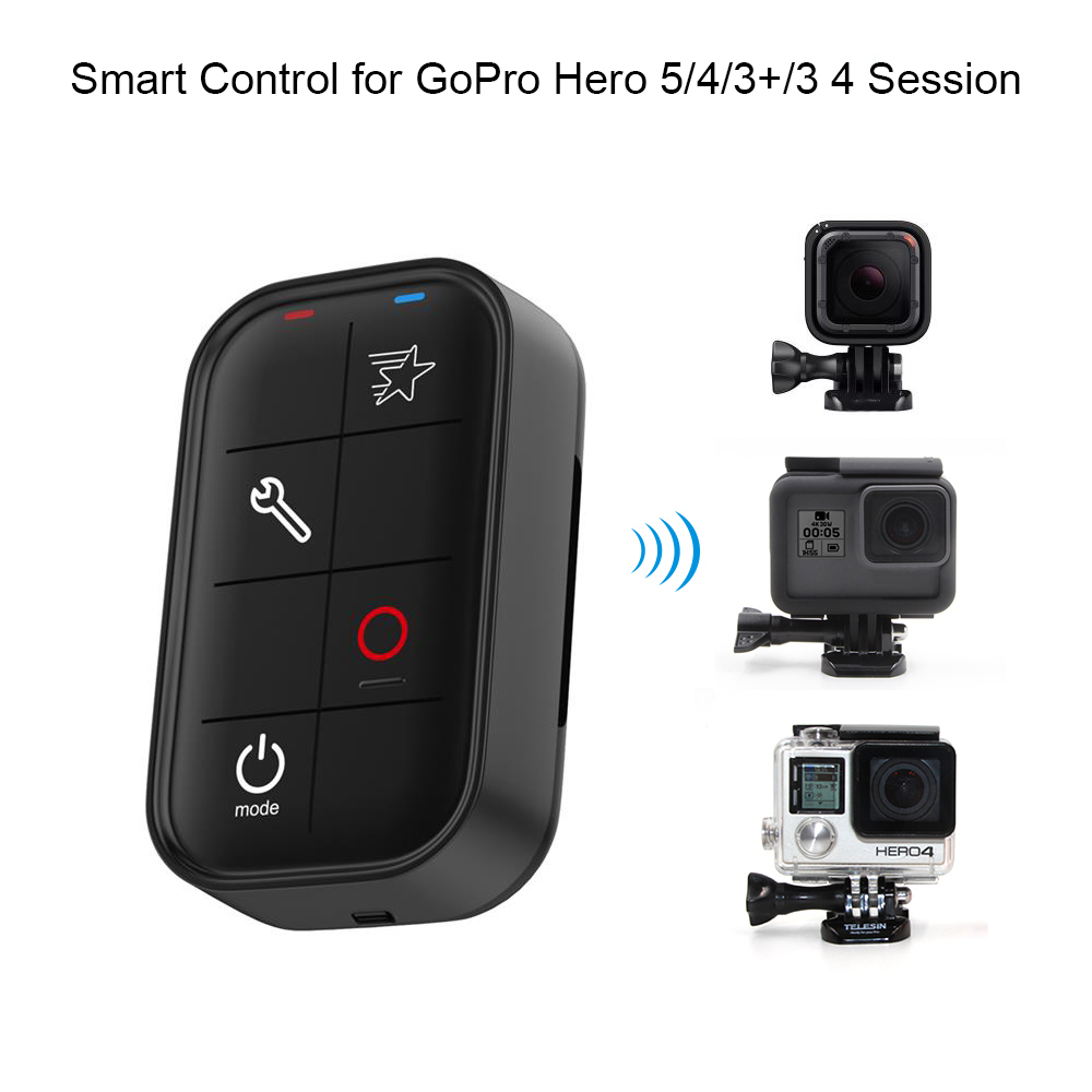 black red telesin smart wireless wi fi remote control water resistant for gopro hero 4 3 3 4. Black Bedroom Furniture Sets. Home Design Ideas