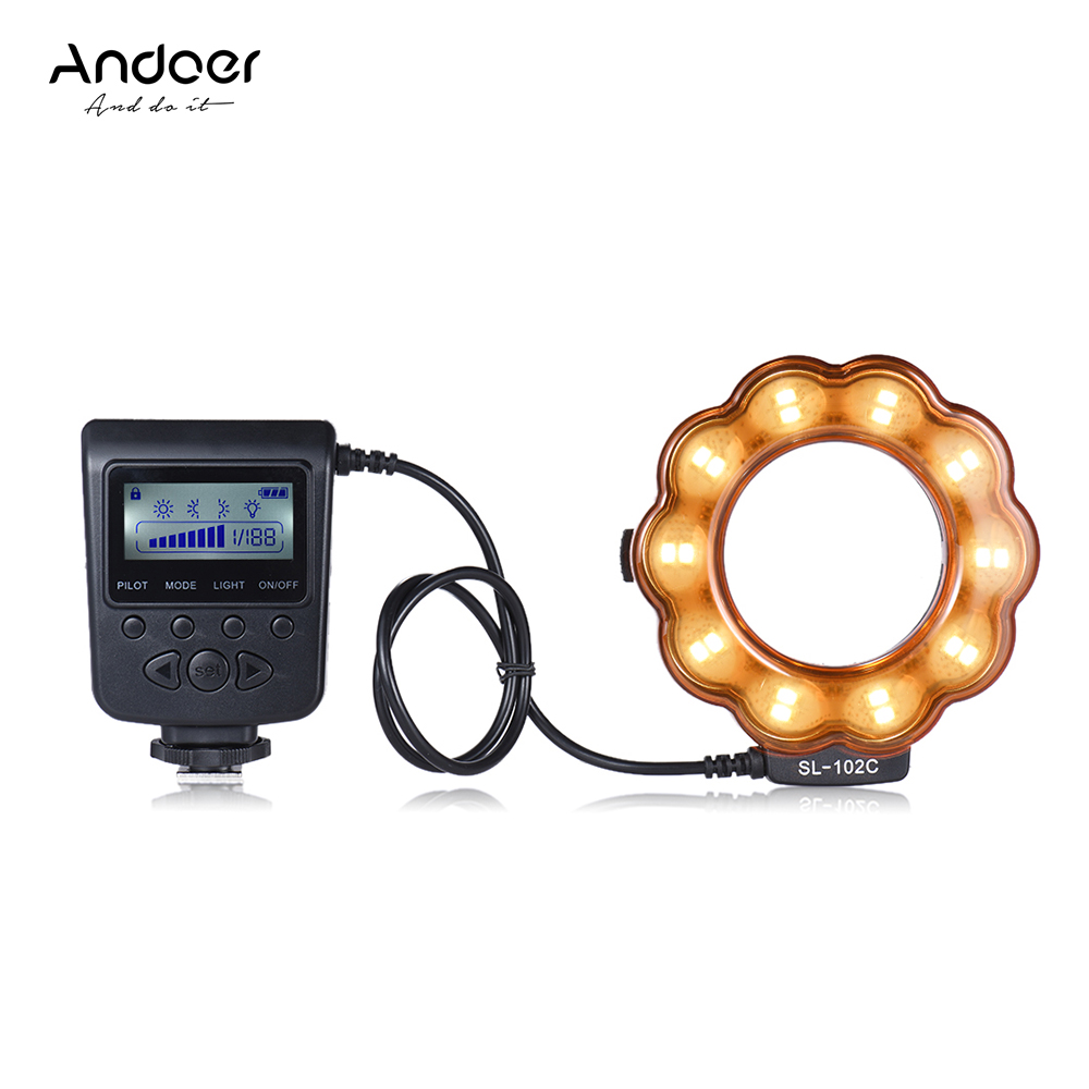 Get Extra 23% Off Andoer SL-102C GN15 Macro LED Ring Flash Fill-in Light