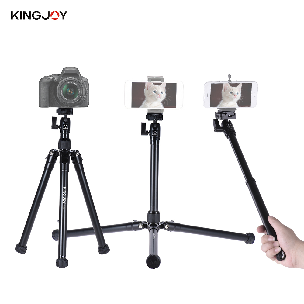 black red kingjoy p056 5 section dslr camera tripod multifunctional light portable tripod and. Black Bedroom Furniture Sets. Home Design Ideas
