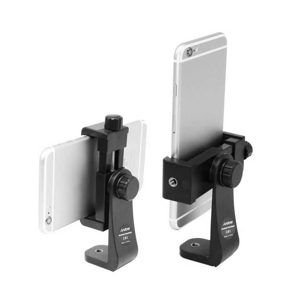 andoer cb1 plastic smartphone clip holder stand support clamp frame bracket mount for iphone 77s66s for samsung huawei cellphone selfie portrait outdoor