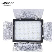 Andoer W300 видео фотографии свет лампы панели 300 светодиодов 6000K для Canon Nikon Pentax Sony (альфа) Olympus Fujifilm DSLR камеры DV видеокамеры