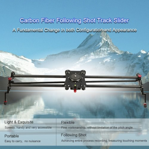 Buy GP-80Q 80cm Carbon Fiber DSLR Camera Track Slider Portable Video Stabilizer 1/4