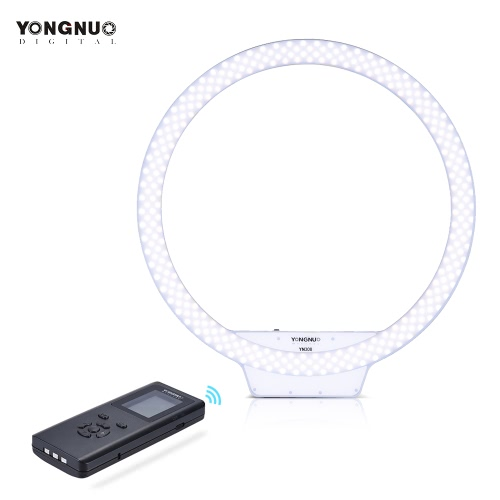 Buy YONGNUO YN308 3200K~5500K Bi-Color Temperature Wireless Remote LED Ring Video Light Annular Frameless Appearance Design Adjustable Brightness CRI≥95 Handle Grip Controller Portrait Live Selfie