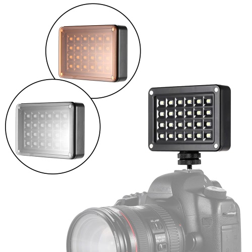 Buy Andoer T9512 Mini LED Video Light Lamp Panel 95+ 5500K Color Temperature 2LEDs 7 Levels Brightness 2 Filters Canon Nikon Sony DSLR Camera Camcorder