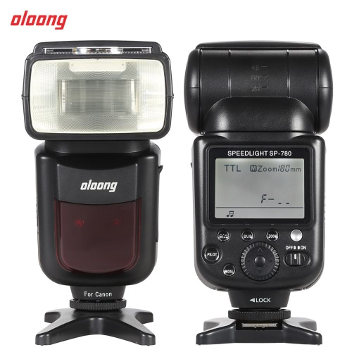 Buy Oloong SP-780 Automatic Manual Zoom Electronic Wireless Speedlite Speedlight Flash Light Lamp E-TTL II GN50 Master Slave Canon 550D 600D 650D 700D Rebel T2i/T3i/T4i/T5i 760D 750D 6D 70D 7D2 5D2 5D3 5DRS 5DR 1100D 1200D 1D DSLR Camera