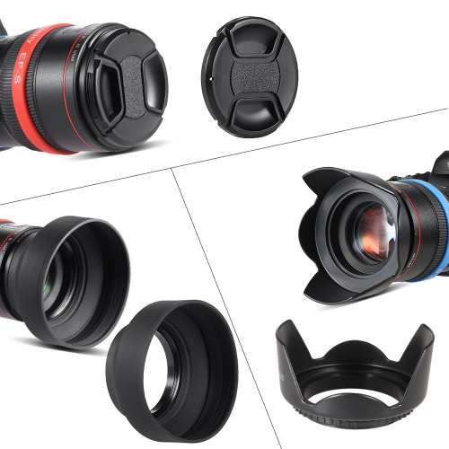 Buy Andoer 77mm Lens Filter Kit (UV + CPL Star+8 Close-up+4 ) Cap Holder Tulip & Rubber Hoods Cleaning Cloth