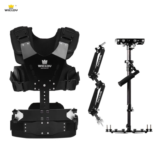 Buy Wieldy HD-2600 Iron Triangle Lightweight Carbon Fiber Handheld Video Stabilizer Steadycam Vest Arm Kit DSLR Camera Camcorder Load Capacity 1-7kg