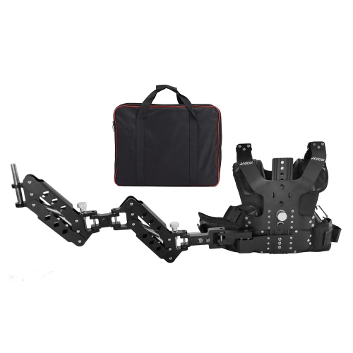 Buy Andoer B200-C2 Pro Video Studio Photography Aluminum Alloy Load Vest Rig 16mm Dual Damping Arm Support Shoulder Stabilization Steadycam Handheld Stabilizer DSLR Camera Camcorder Film Movie Making Capacity 5-8kg/11-17.6Lbs