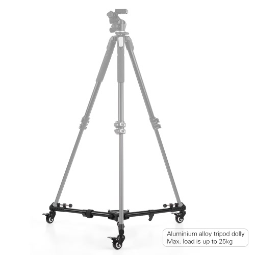 Buy Universal Foldable Photography Heavy Duty Tripod Dolly Base Stand Flexible Wheels Adjustable Legs Max. Load 25kg Carrying Bag