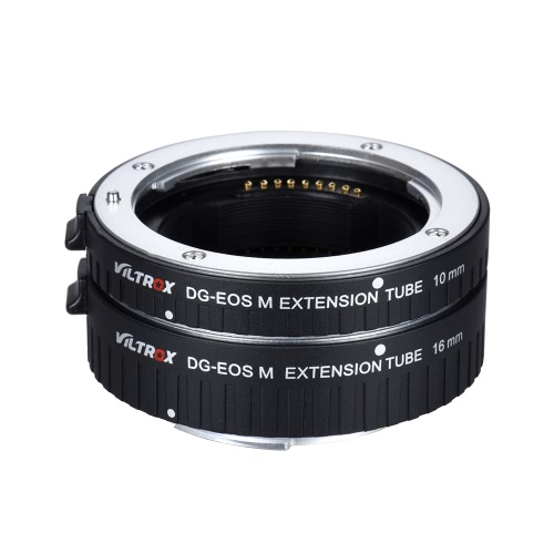 Buy Viltrox DG-EOS M Automatic Extension Tube 10mm 16mm Auto Focus Canon EF-M Mount Series Mirrorless Camera Lens