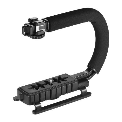 Buy 3 Shoe Mounts U/C Shaped Bracket Holder Handle Handheld Video Action Stabilizer Grip iPhone 7 Plus 6s 6 Canon Nikon Sony DSLR Camera Camcorder