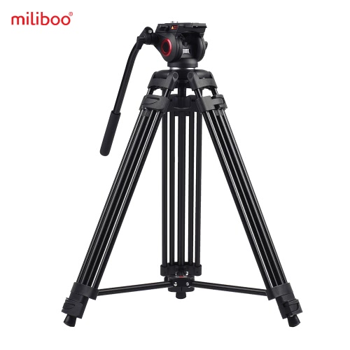 Buy Miliboo MTT601A Professional Photography Aluminum Alloy Tripod Stand 3 Sections 360° Panorama Fluid Hydraulic Bowl Head Max. Height 153cm/ 5ft Load Capacity 10kg Canon Nikon Sony DSLR Cameras Camcorders