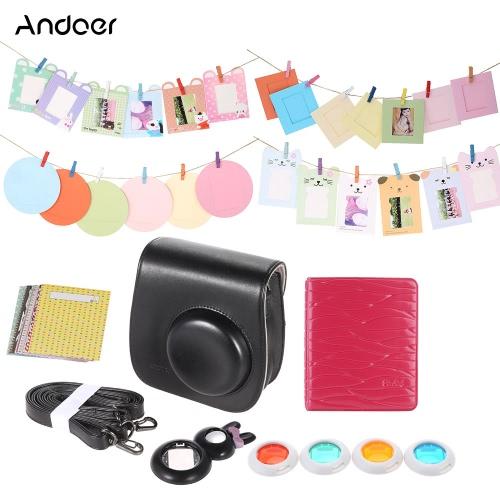 Buy Andoer Instant Film Camera Accessories Bundles Fujifilm Instax Mini8 8s Bag/Photo Album/Close-Up Selfie Lens/Colors Lens/Wall Hang Frames/Stickers 6 1 Cute Gift Kids Friends