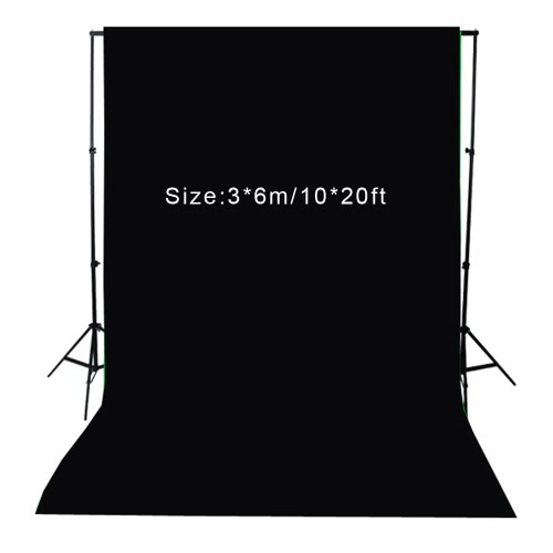 Buy 3 * 6m / 10 20ft Photography Screen Backdrop Muslin 100% Cotton Video Photo Lighting Studio Background Black