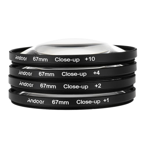 Buy Andoer 67mm Macro Close-Up Filter Set +1 +2 +4 +10 Pouch Nikon D80 D90 D7000 Canon Tamron Sigma DSLRs