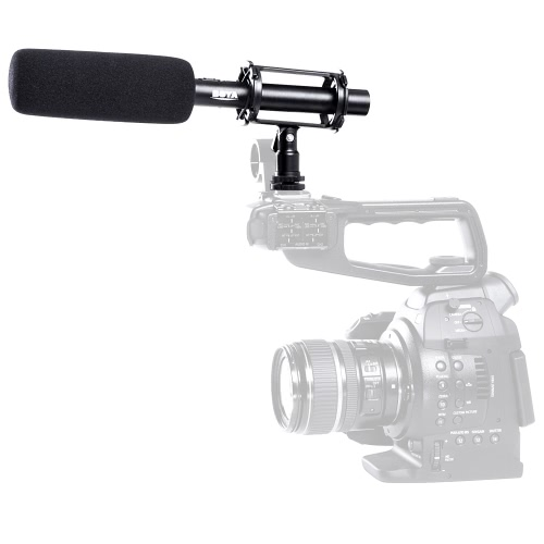Buy BOYA BY-PVM1000 Condenser Shotgun Microphone 3-pin XLR Output DSLR Camera