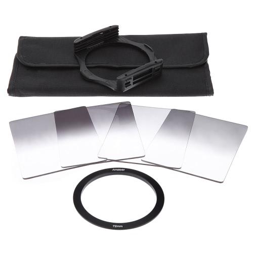 Buy Andoer P Series Gradual Graduated Neutral Density Resin Filter Set Filters 0.3ND 0.6ND 0.9ND 1.2ND 72mm Adapter Ring Square Holder Bag DSLR Camera