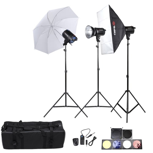 Buy Tolifo Professional Photography Photo Studio Speedlite Lighting Lamp Kit Set (3 * )300W Flash Strobe Light Stand Softbox Soft Umbrella Cloth Lampshade Barn Door Trigger