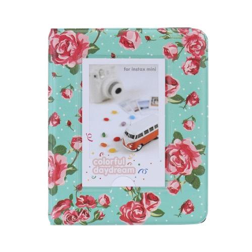 Buy 64 Pockets Camera Photo Album Holder Vintage Retro Rose Pattern Book Style Mini Fuji Instax & Name Card 7s 8 25 50s 90 LG PD233 PD221 PD239