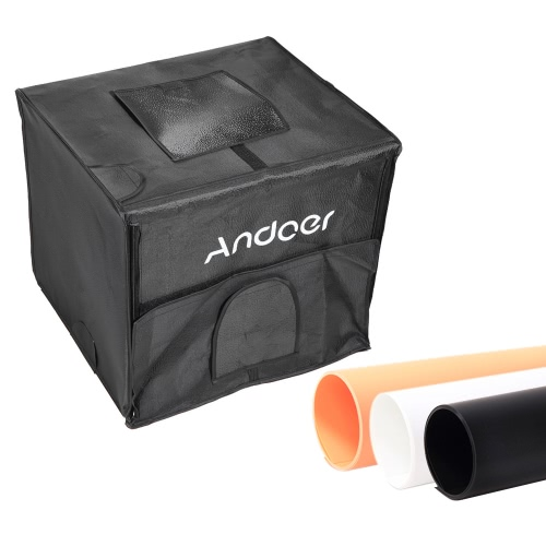 Buy Andoer 60*55*55cm Foldable Photography Studio Shooting LED Light Tent Kit Softbox 3 Color Backdrops Power Adapter Carrying Bag
