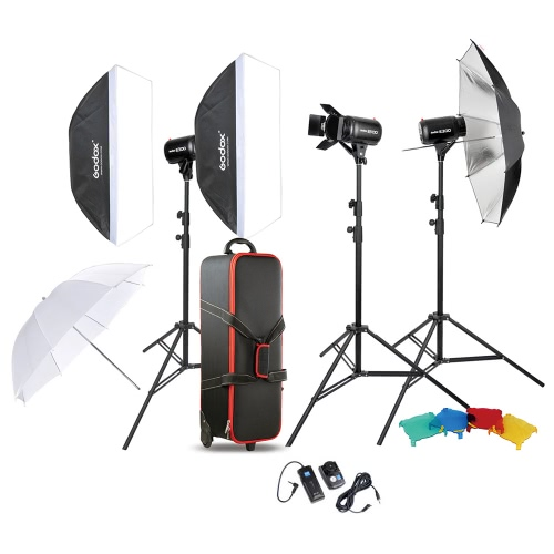 Buy Godox Professional Photography Photo Studio Speedlite Lighting Lamp Kit Set (3 *) 300W Flash Strobe Light Stand Softbox Soft Reflector Umbrella Barn Door Trigger