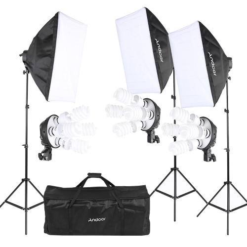 Buy Andoer Photography Studio Portrait Product Light Lighting Tent Kit Photo Equipment (12 * 45W Bulb + 3 4in1 Socket Softbox Stand 1 Carrying Bag)