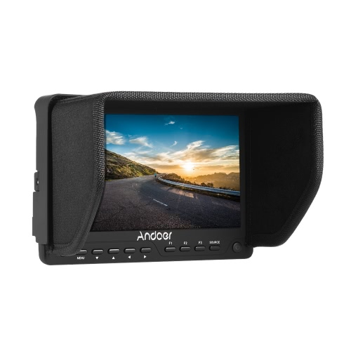 Buy Andoer AD-702 7 Inch Ultra-thin HD 1280×800 IPS Screen Camera Field Monitor 400cd/㎡ High Definition Multimedia Interface AV Input Output DSLR Camcorder
