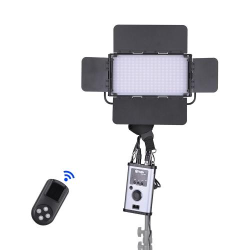 Buy Tolifo GK-60B PRO 60W Ultra-thin 24CRI95+ LED Video Light Lamp 2.4G Remote Control 3200K ~ 5600K Bi-color Barn Door White Filter V-mount Plate DMX512 Connector Studio Photography