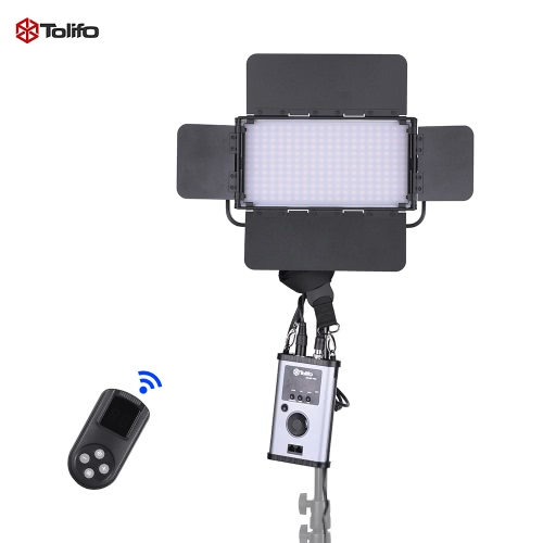 Buy Tolifo GK-60B PRO 60W Ultra-thin 24CRI95+ LED Video Light Lamp 2.4G Remote Control 3200K ~ 5600K Bi-color Barn Door White Filter V-mount Plate DMX512 Connector Studio Photography