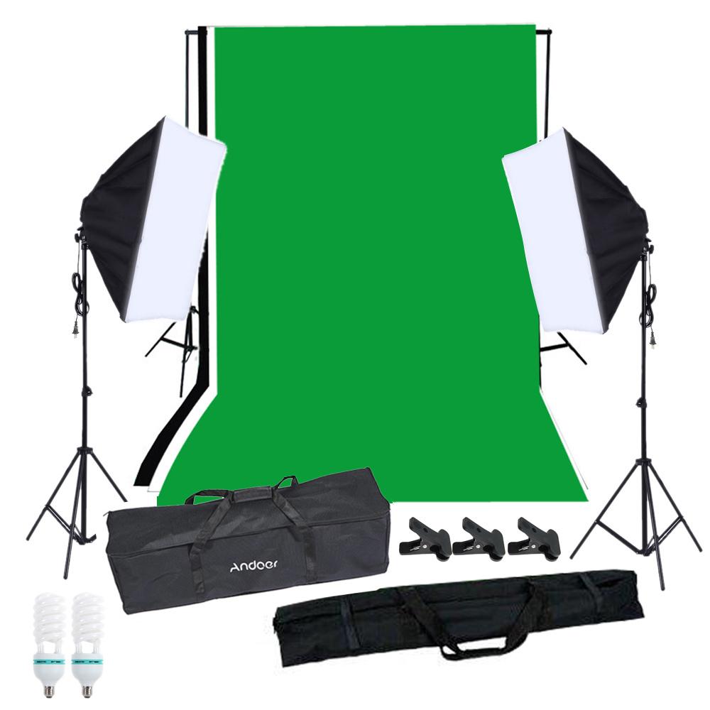 Andoer Photography Softbox Lighting Kit With Studio
