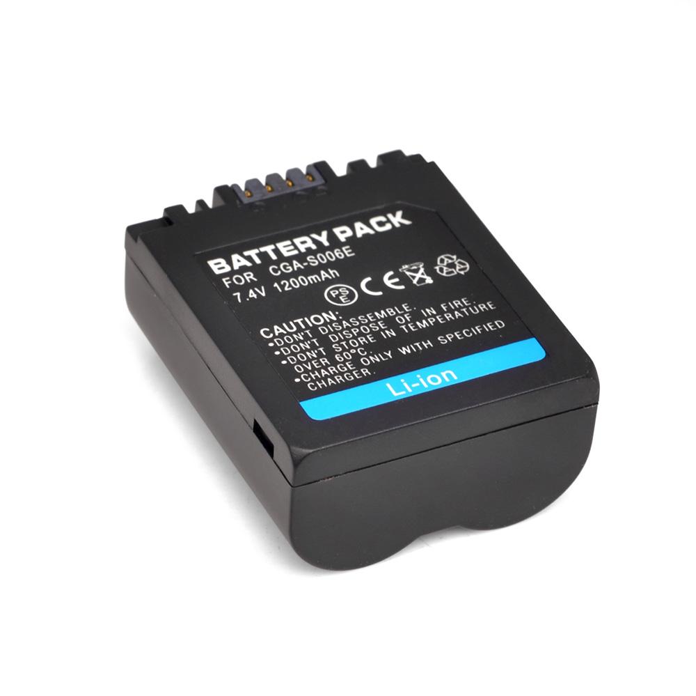 1200mah 7 4v s006 rechargeable li ion battery camera camcorder battery for panasonic cgr s006e. Black Bedroom Furniture Sets. Home Design Ideas