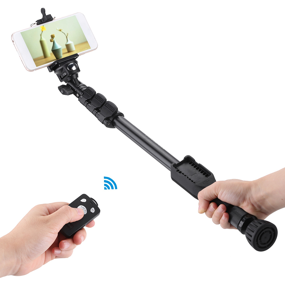 yunteng vct 388 extendable selfie stick pole monopod self timer with removable wireless. Black Bedroom Furniture Sets. Home Design Ideas