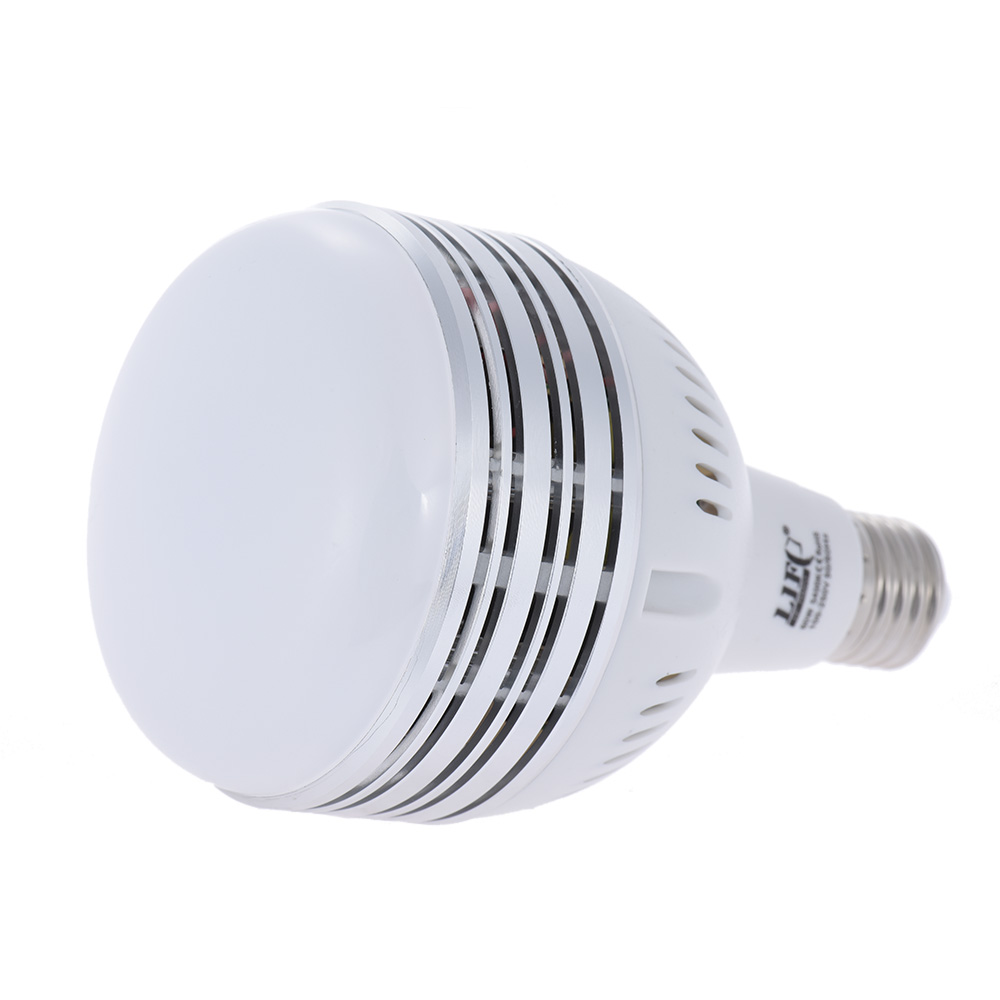 60w led daylight balanced e27 5400k light bulb studio modeling lamp for photography video. Black Bedroom Furniture Sets. Home Design Ideas