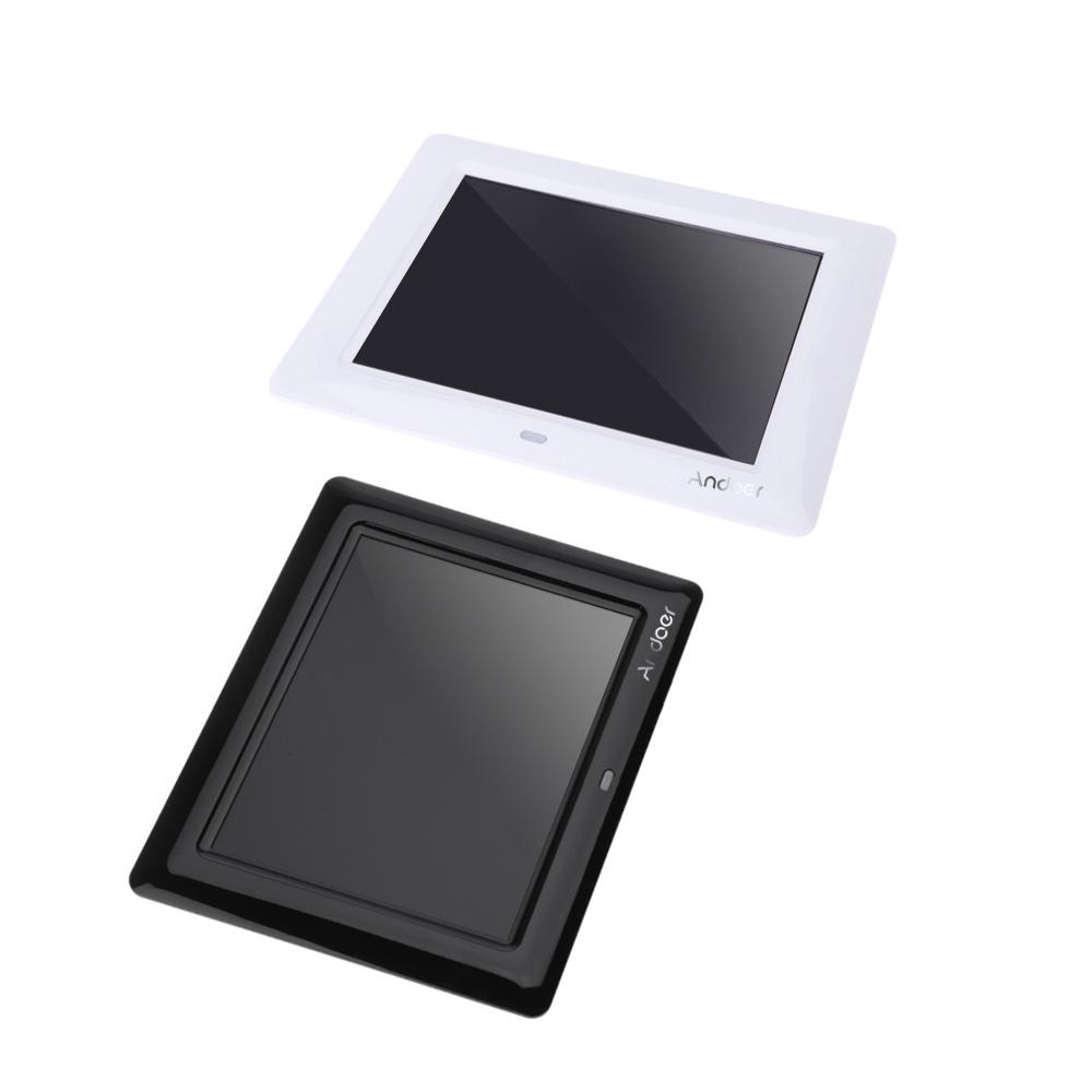 7 cadre photo num 233 rique hd tft lcd avec diaporama horloge mp3 mp4 avec player remote