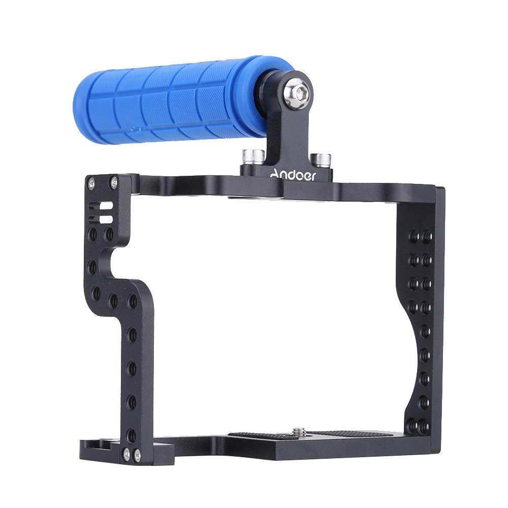 andoer dslr kamera k fig rig mit oben angebrachtem griff. Black Bedroom Furniture Sets. Home Design Ideas