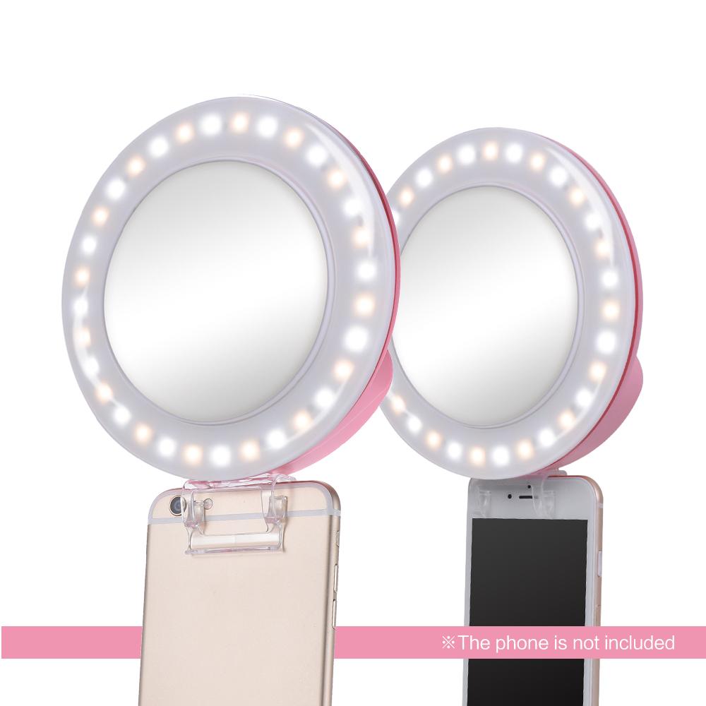 nanguang cn mp32c clip on selfie fill in ring led licht. Black Bedroom Furniture Sets. Home Design Ideas