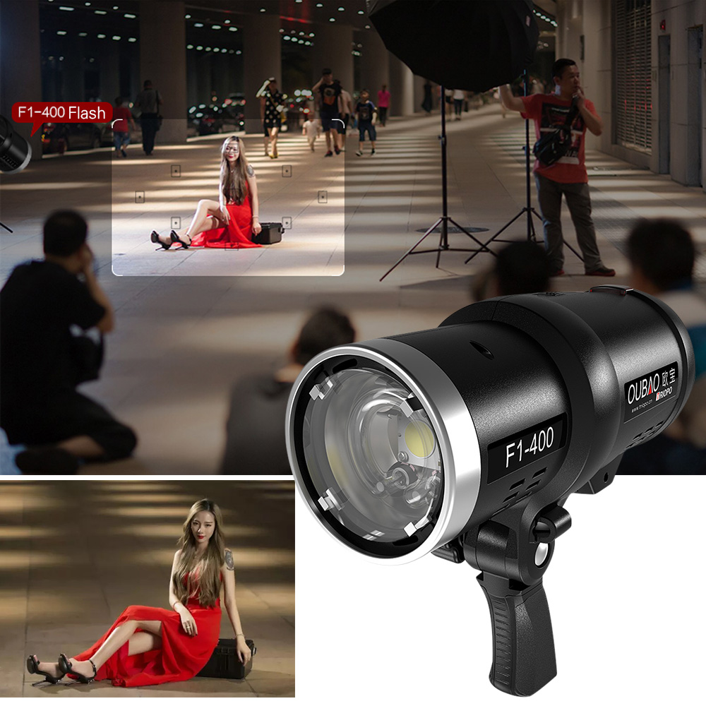 TRIOPO Oubao F1 400 400W 1/8000s High Speed Sync Outdoor Flash Strobe Light  2.4G Wireless Q System Dual TTL(i TTL And E TTL) 5600K For Canon Nikon  Cameras ...
