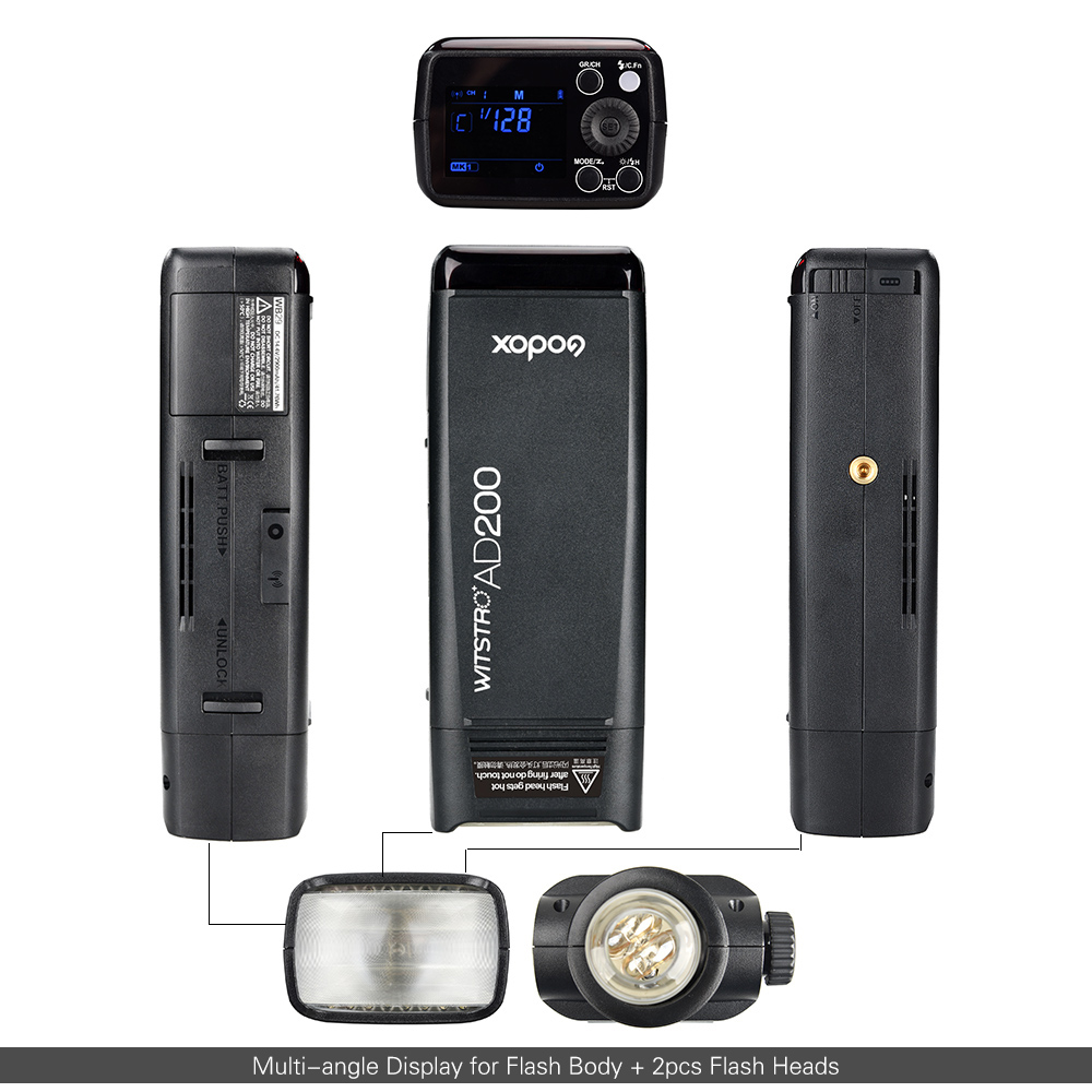 Godox AD200 Pocket Flash Portable Mini TTL Speedlite With