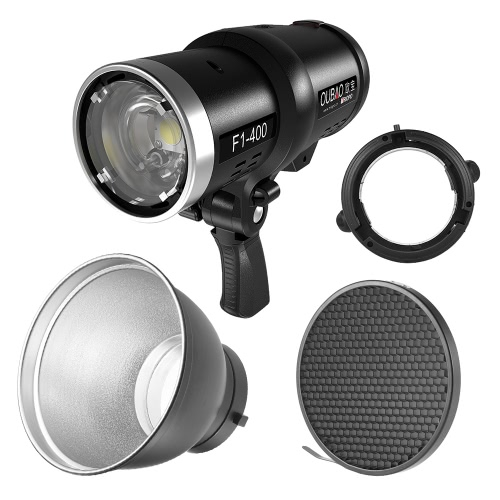 TRIOPO Oubao F1-400 400W 1/8000s High Speed Sync Outdoor Flash Strobe Light 2.4G Wireless Q System Dual TTL(i-TTL and e-TTL) 5600K with 2.4G Wireless Trigger Rechargeable Li-ion Battery Bowens Mount + 7
